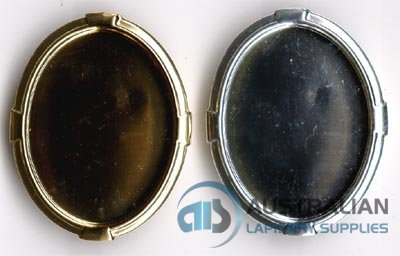 166BR 40x30 Recessed-edge BROOCH