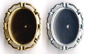 174BR 25x18 Recessed-edge BROOCH