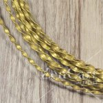 2.2mm SOLID TWISTED BRASS WIRE price per 5 METRE COILS