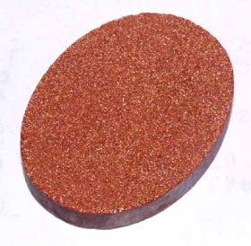 25X18 PREFORM CABACHON BROWN GOLDSTONE
