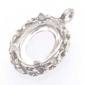 DL118 8 x 6mm 4-claw setting for faceted or cabochon stone