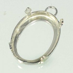 17PS STERLING SILVER 18X13 4-CLAW SETTING