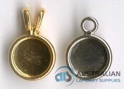 113P 8mm rd. Rolled-edge PENDANT