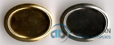 143BR 25x18 Recessed-edge BROOCH