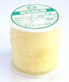 2 rolls 1.0mm Nylon Beading Stretch Cord 50mts ea. roll