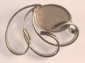 85BR 18x13 Milled-edge BROOCH Nickel Plate