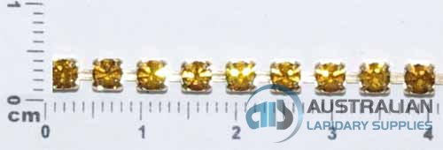 1CS 3mm TOPAZ. CRYSTAL. CHAIN PRICED PER METRE