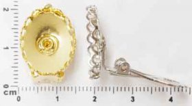 25ER 18x13 Lace-edge EARRING, PRICE PER PAIR