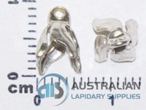 O11A/S STERLING SILVER MEDIUM 4 PRONG BELLCAP