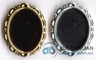 167BR 40x30 Recessed-edge BROOCH
