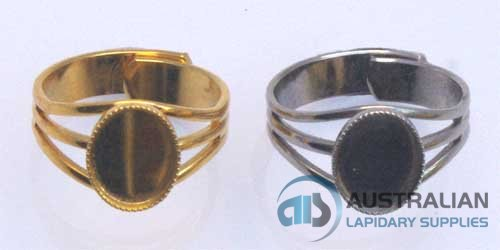 21R 10x8 Milled-edge Ring Gold plate only