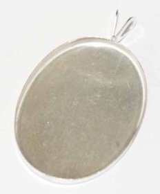 19PS STERLING SILVER 25X18 PLAIN EDGE