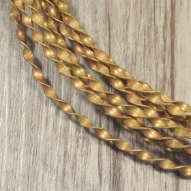 2.9mm SOLID TWISTED BRASS WIRE price per 5 METRE COILS