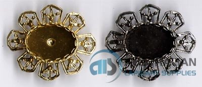 136BR 18x13 Lace-edge BROOCH