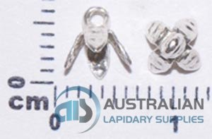 O10/S STERLING SILVER SMALL 4 PRONG BELLCAP