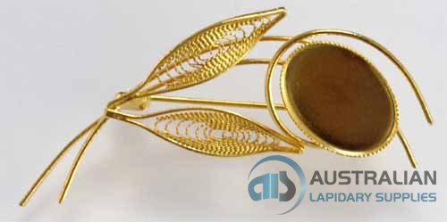 90BR 18x13 Milled-Edge FILIGREE BROOCH