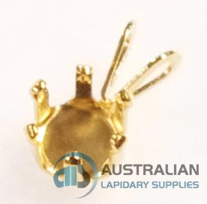 SSP6 G.F. GOLD FILLED 6MM 6-CLAW SNAP-TITE PENDANT