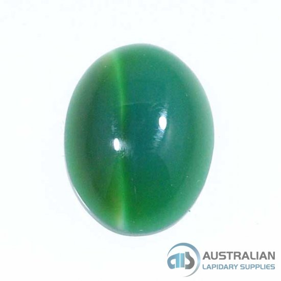 X23 10x8 Oval Cabochon DYED GREEN AGATE