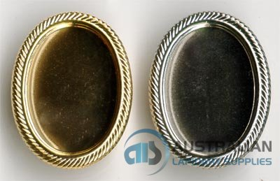 74BR 25x18 Recessed-edge BROOCH