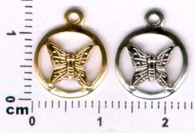 367P SMALL BUTTERFLY CHARM PENDANT