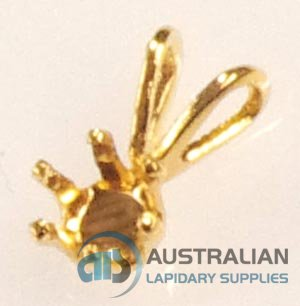 SSP4 G.F. GOLD FILLED 4MM 6-CLAW SNAP-TITE PENDANT