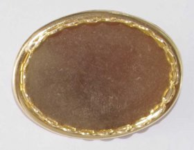 139BRG 30x22 Lace-edge Brooch Gold Plate