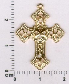 180P FILIGREE CROSS CHARM PENDANT
