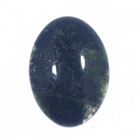 X23 18x13 Oval Cabochon GREEN MOSS AGATE