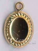 DL100G Gold Plate 8x6 Pendant