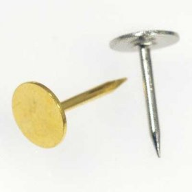 1T Tumbled Stone Flat Pad TIE TACK inc. CLUTCH BACK