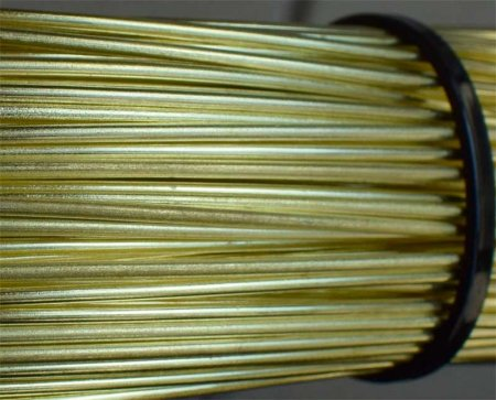 0.91mm 19G AWG or 20G SWG SOLID BRASS WIRE in 10 METRE COILS