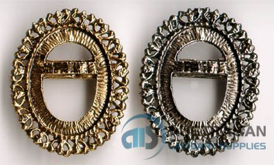 42BR 30x22 Recessed-edge BROOCH PENDANT