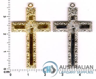 176P CROSS PENDANT FOR TUMBLED STONE FLAT PAD